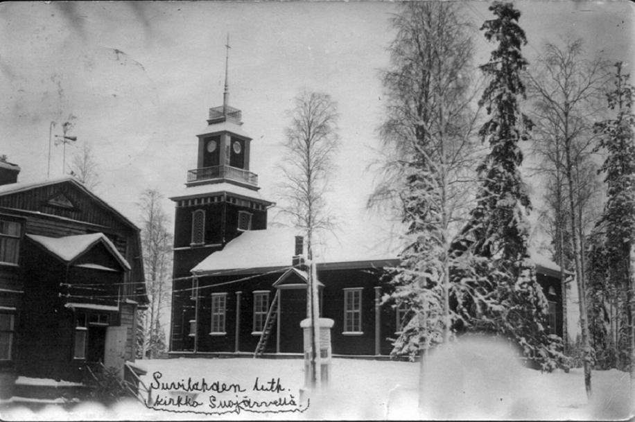 Suojärven ev. lut. kirkko talvella
