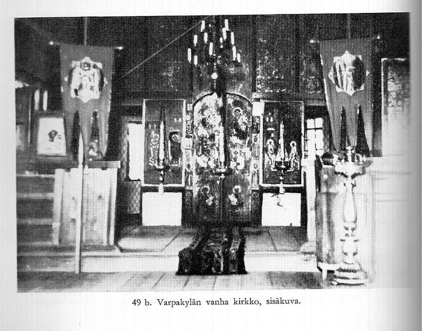 Varpakylän vanha kirkko sisältä